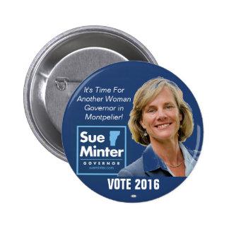 Sue Minter for Vermont Governor 2016 button