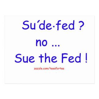 Sue the Fed Postcard