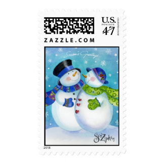 Sue Zipkin snow Couple stamp