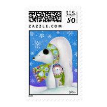 Sue Zipkin Winter Holiday Polar Bear Postage