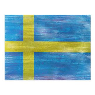Suecia apenó la bandera sueca postal