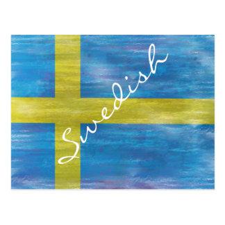 Suecia apenó la bandera sueca tarjetas postales