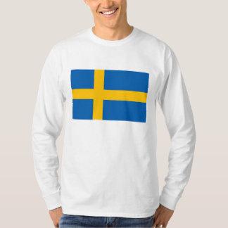 Suecia - bandera nacional sueca poleras