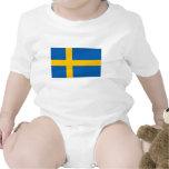Suecia - bandera nacional sueca traje de bebé