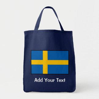 Suecia - bandera sueca bolsa tela para la compra