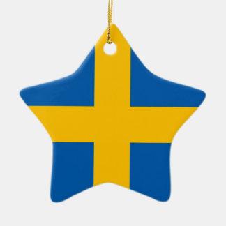 Suecia - bandera sueca adorno de navidad
