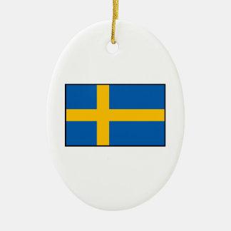 Suecia - bandera sueca ornamento para arbol de navidad