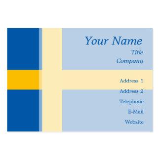 Suecia - bandera sueca tarjetas de visita