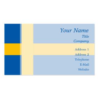 Suecia - bandera sueca plantilla de tarjeta de visita