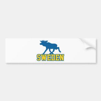 Suecia Etiqueta De Parachoque