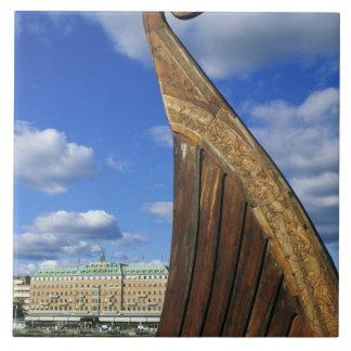 Suecia, Estocolmo, puerto, de Gamla Stan, Azulejo Cuadrado Grande