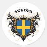 Suecia Etiqueta Redonda