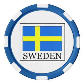 Suecia Juego De Fichas De Póquer