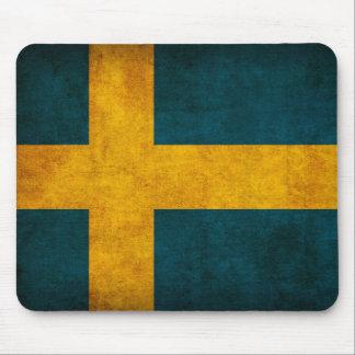 Suecia Mousepad apenado bandera Alfombrilla De Ratones