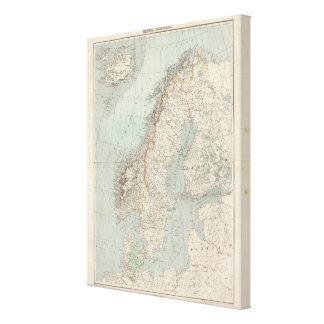 Suecia, Noruega, Dinamarca 2 Lienzo Envuelto Para Galerias