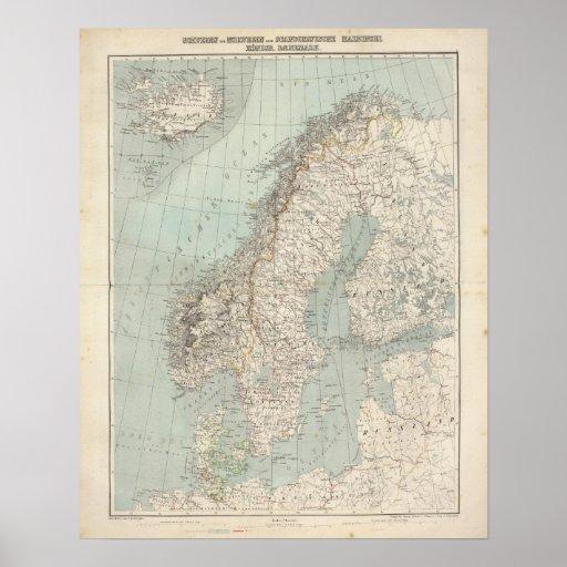 Suecia, Noruega, Dinamarca 2 Póster