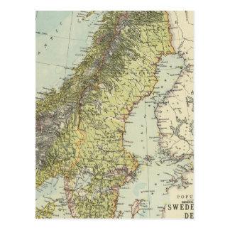 Suecia, Noruega, Dinamarca Postales
