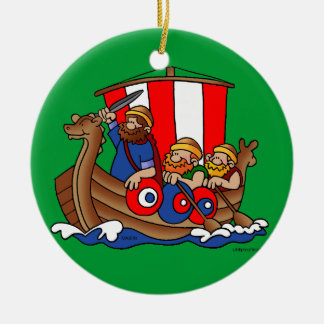 Suecia - ornamento del navidad de Viking Adorno Navideño Redondo De Cerámica