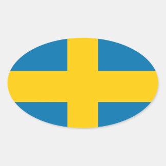 Suecia Calcomania De Oval