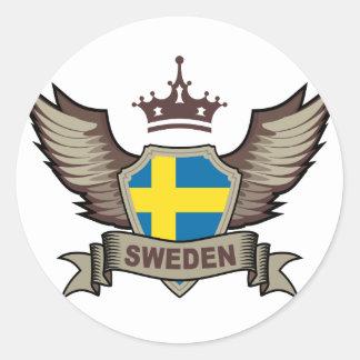 Suecia Pegatina Redonda