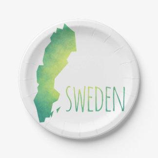 Suecia Plato De Papel De 7 Pulgadas
