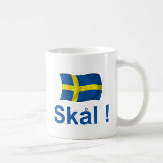 ¡Suecia Skal! Taza Básica Blanca