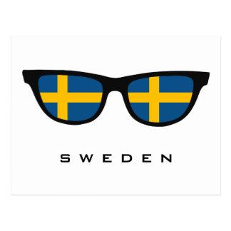 Suecia sombrea el texto y la postal de encargo del