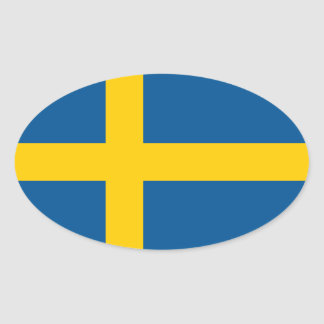 Suecia/sueco/bandera sueca pegatina ovalada