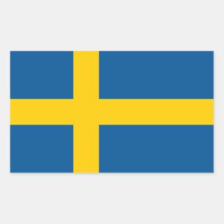 Suecia/sueco/bandera sueca pegatina rectangular