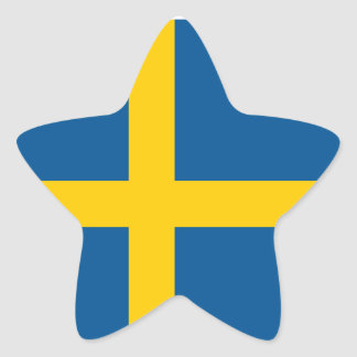 Suecia/sueco/bandera sueca pegatina en forma de estrella