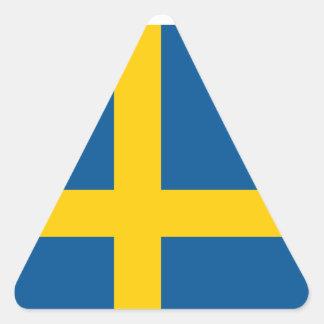 Suecia/sueco/bandera sueca pegatina triangular