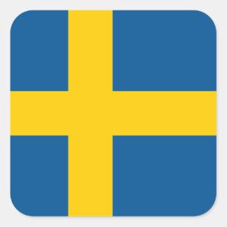 Suecia/sueco/bandera sueca pegatina cuadrada