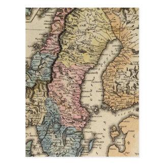 Suecia y Noruega 3 Tarjetas Postales