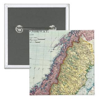 Suecia y Noruega 5 Pin Cuadrada 5 Cm