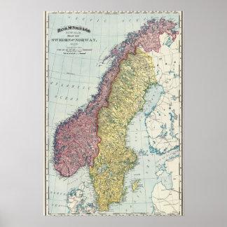 Suecia y Noruega 5 Póster