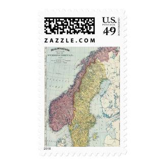 Suecia y Noruega 5 Franqueo