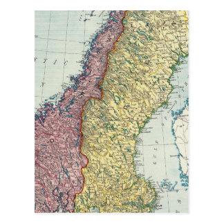 Suecia y Noruega 5 Tarjetas Postales