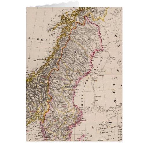 Suecia y Noruega 9 Tarjeton