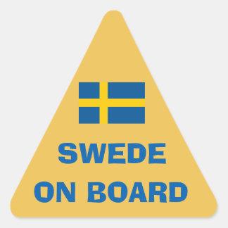 Sueco a bordo el pegatina del triángulo