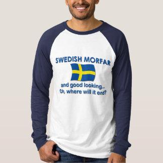 Sueco apuesto Morfar Playera