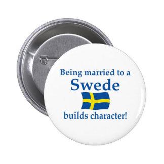 Sueco construye el carácter pin