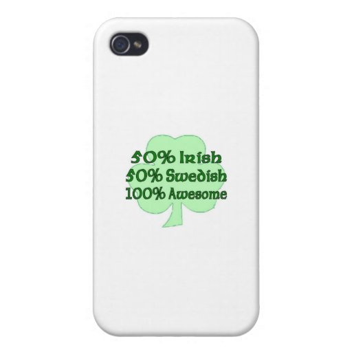 Sueco del irlandés el 50% del 50% el 100% impresio iPhone 4/4S funda