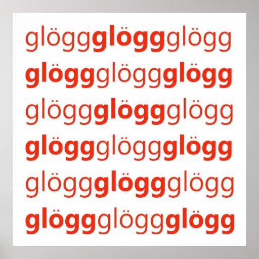Sueco divertido de Glogg Glogg Glogg Posters