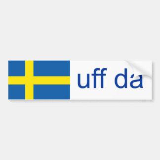 Sueco divertido de Uff DA Suecia Pegatina Para Auto