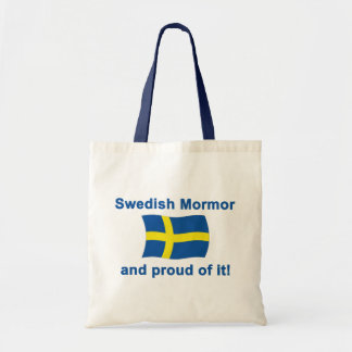 Sueco orgulloso Mormor (abuela) Bolsa Tela Barata