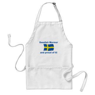 Sueco orgulloso Mormor (abuela) Delantal