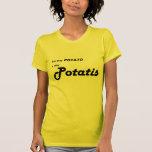 """Sueco Potatis """"usted dice la patata """" Camisetas"""
