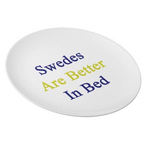 Sueco son mejores en cama plato