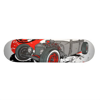 Suede and Chrome Rat Deck Skateboard Deck