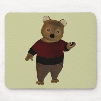 Suede Bear Mouse Pad